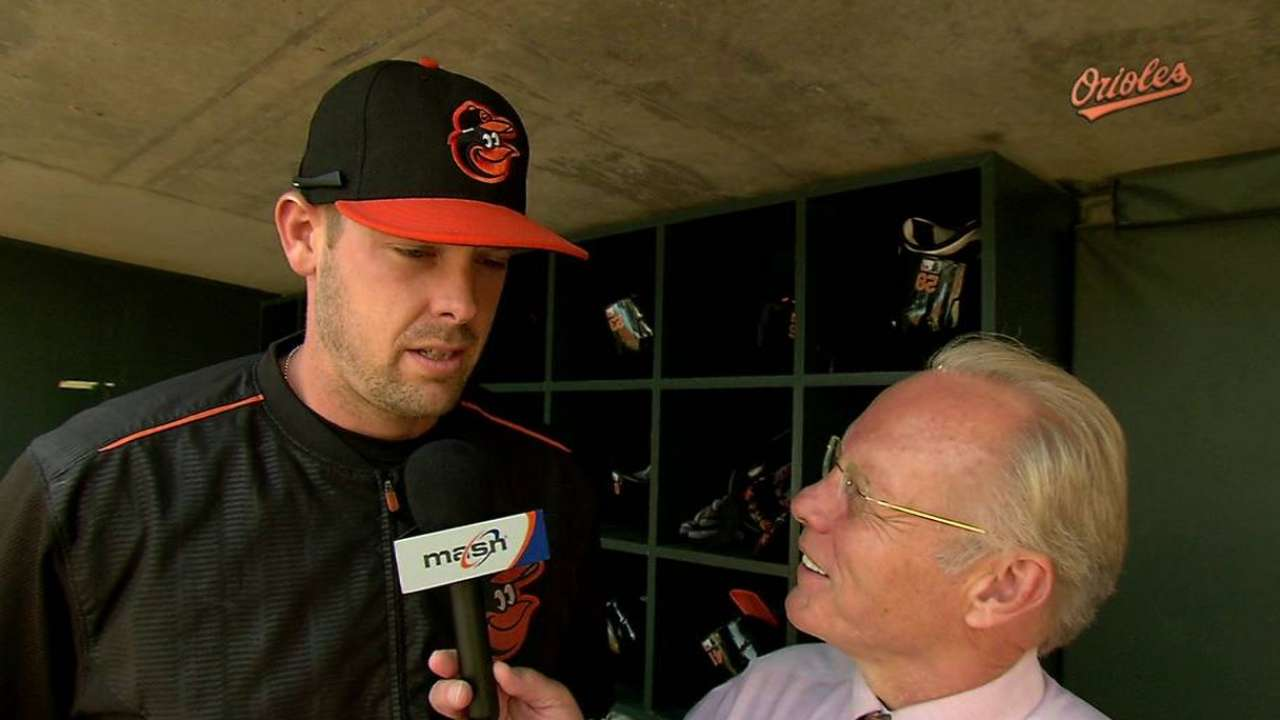 Back-to-back days behind plate big for Wieters
