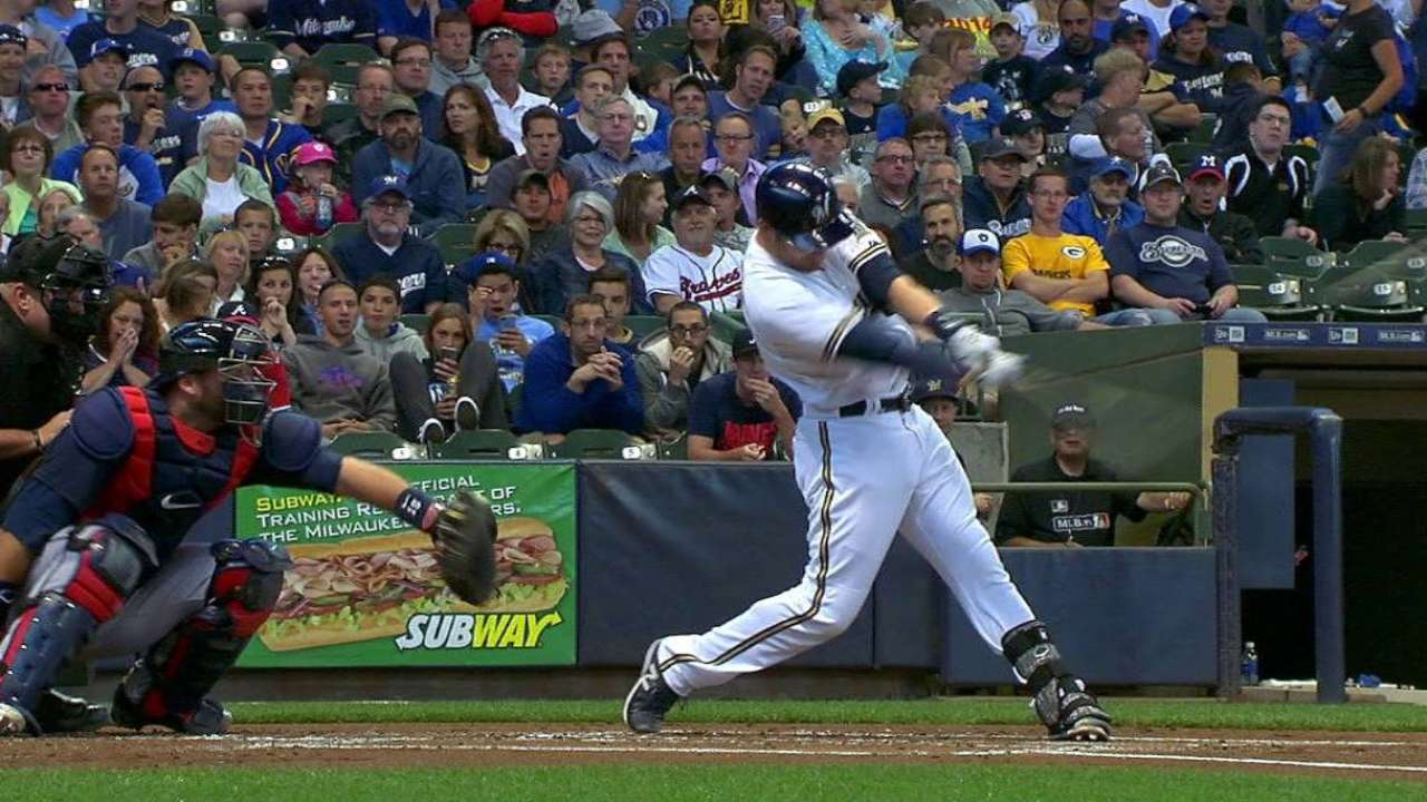 Brewers claw back, but fall to Braves