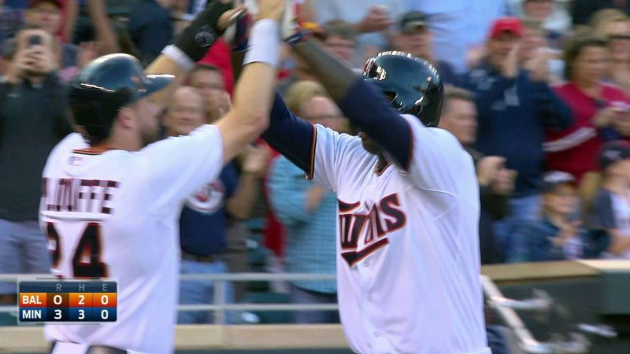 Sano's first career home run