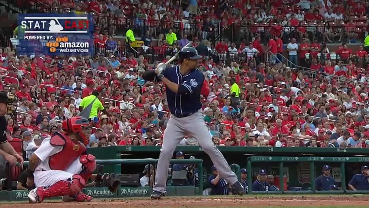 Statcast on Ross' home run