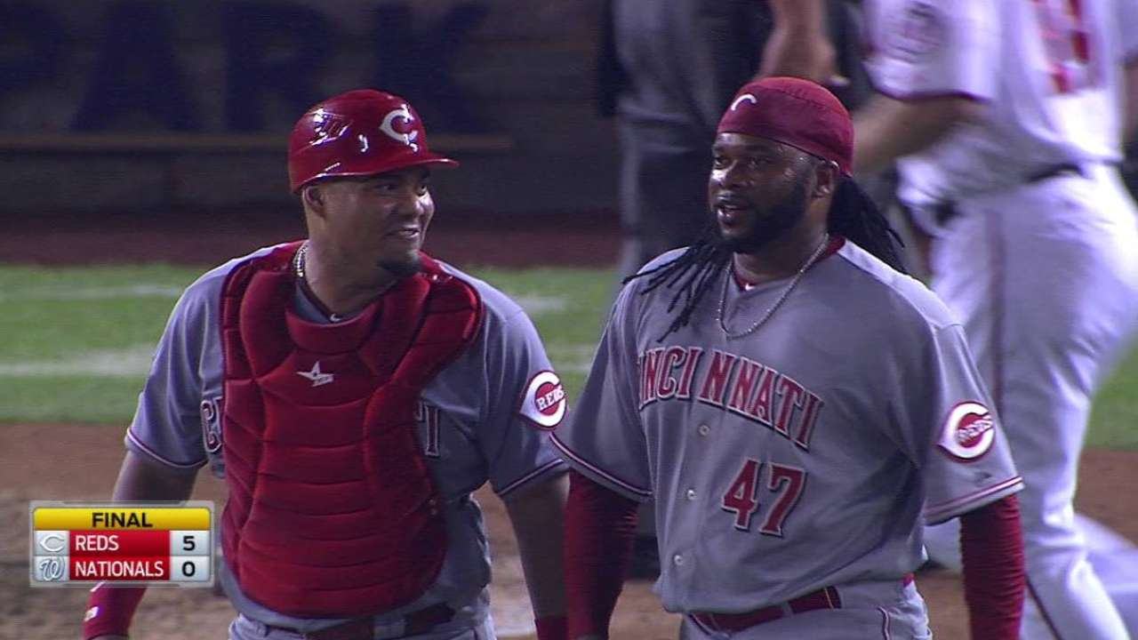 Cueto lobbies for Final Vote with D.C. shutout