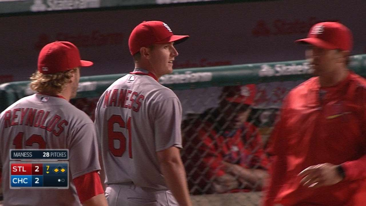 Maness ejected, Cards not happy over key call