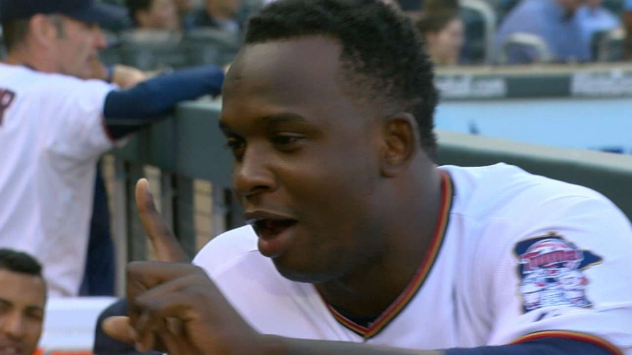 Sano crushes first Major League home run