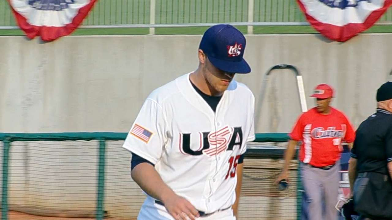 Texas prospect Thompson ties Pan-Am K's mark