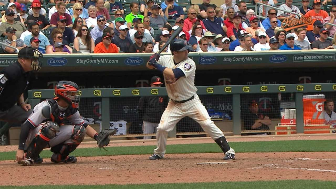 Dozier the catalyst as Twins sweep O's
