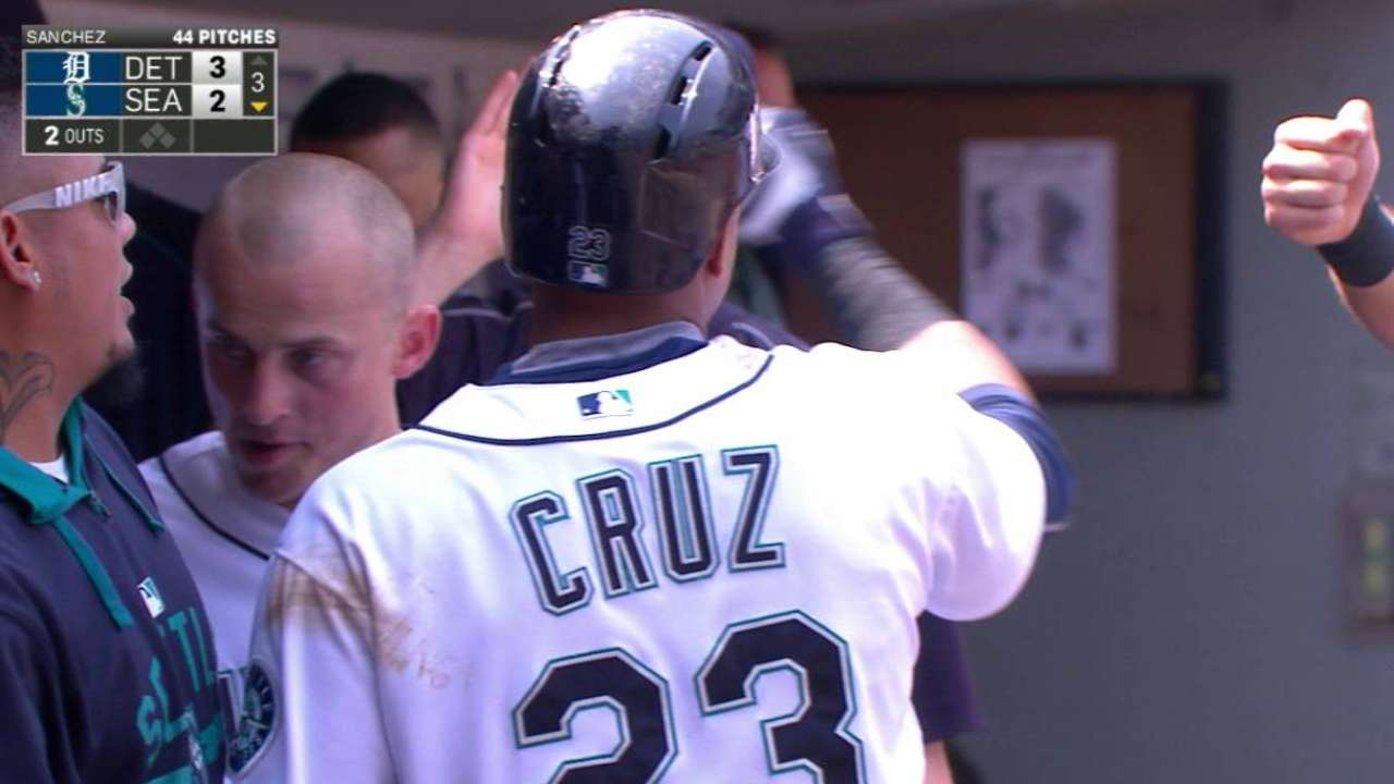 Seager scores on grounder