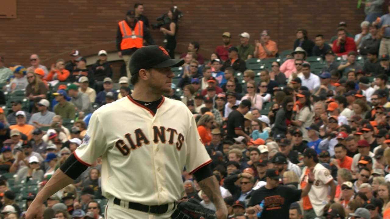 Peavy, Cain hold keys to Giants' success