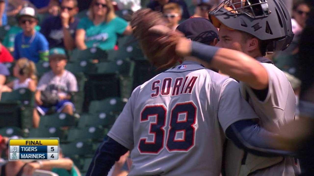 Soria slams the door