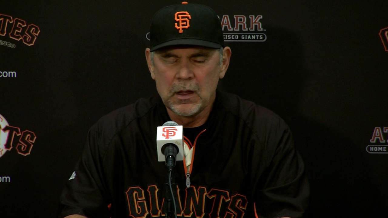 Bochy on Giants' loss to Mets