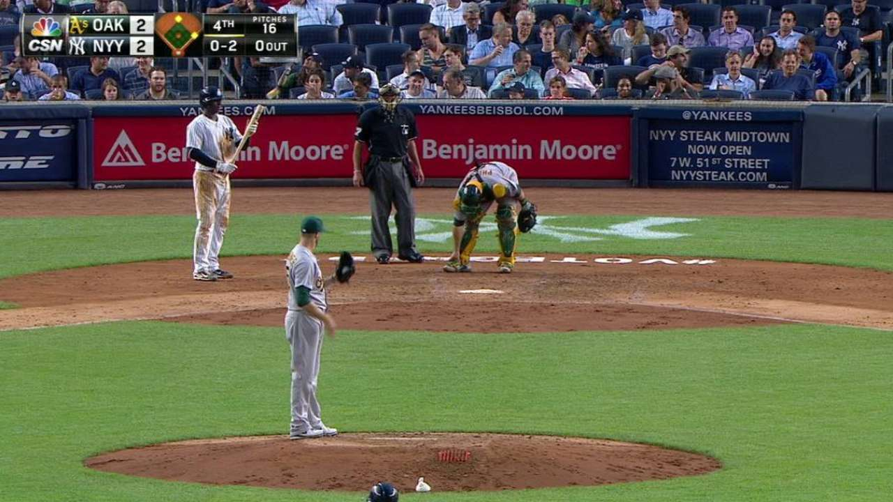 Kazmir exits with injury