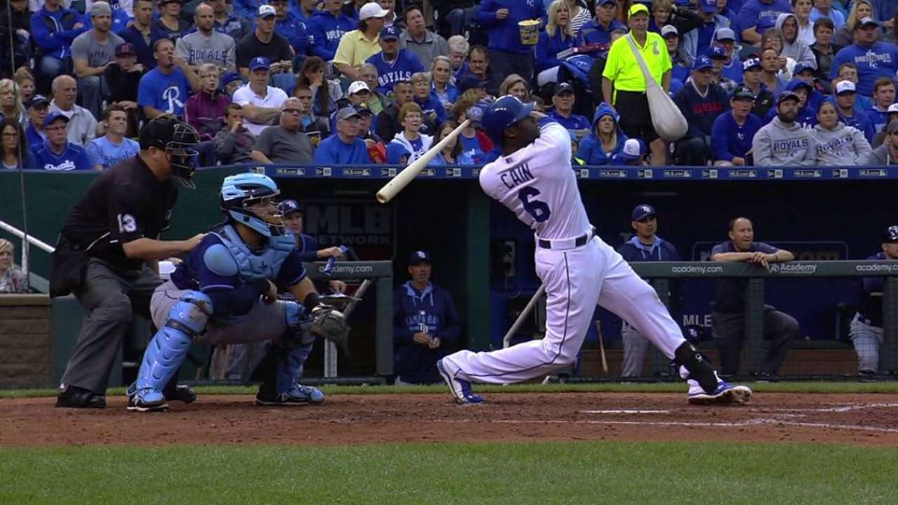 Cain's two-run homer