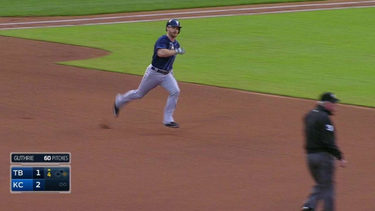 Forsythe's inside-the-park homer