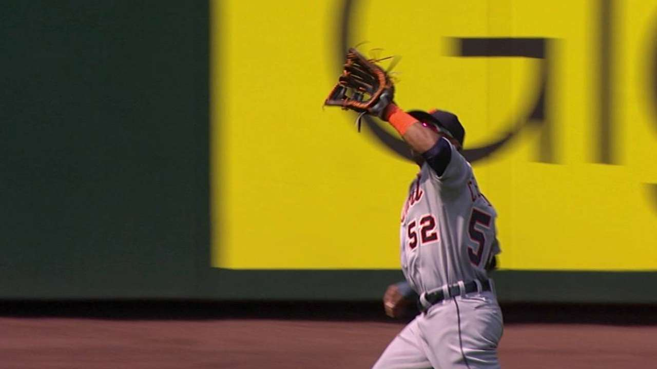 Cespedes' great catch in the 9th