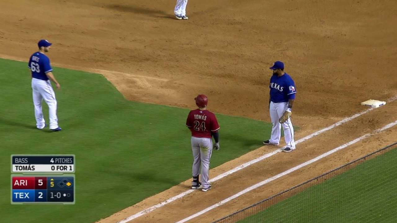Tomas cleaning up in debut season with D-backs