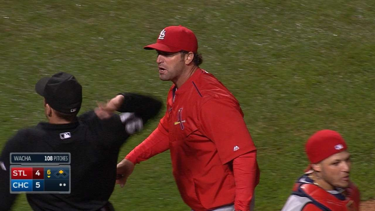 Molina, Matheny ejected in one fell swoop