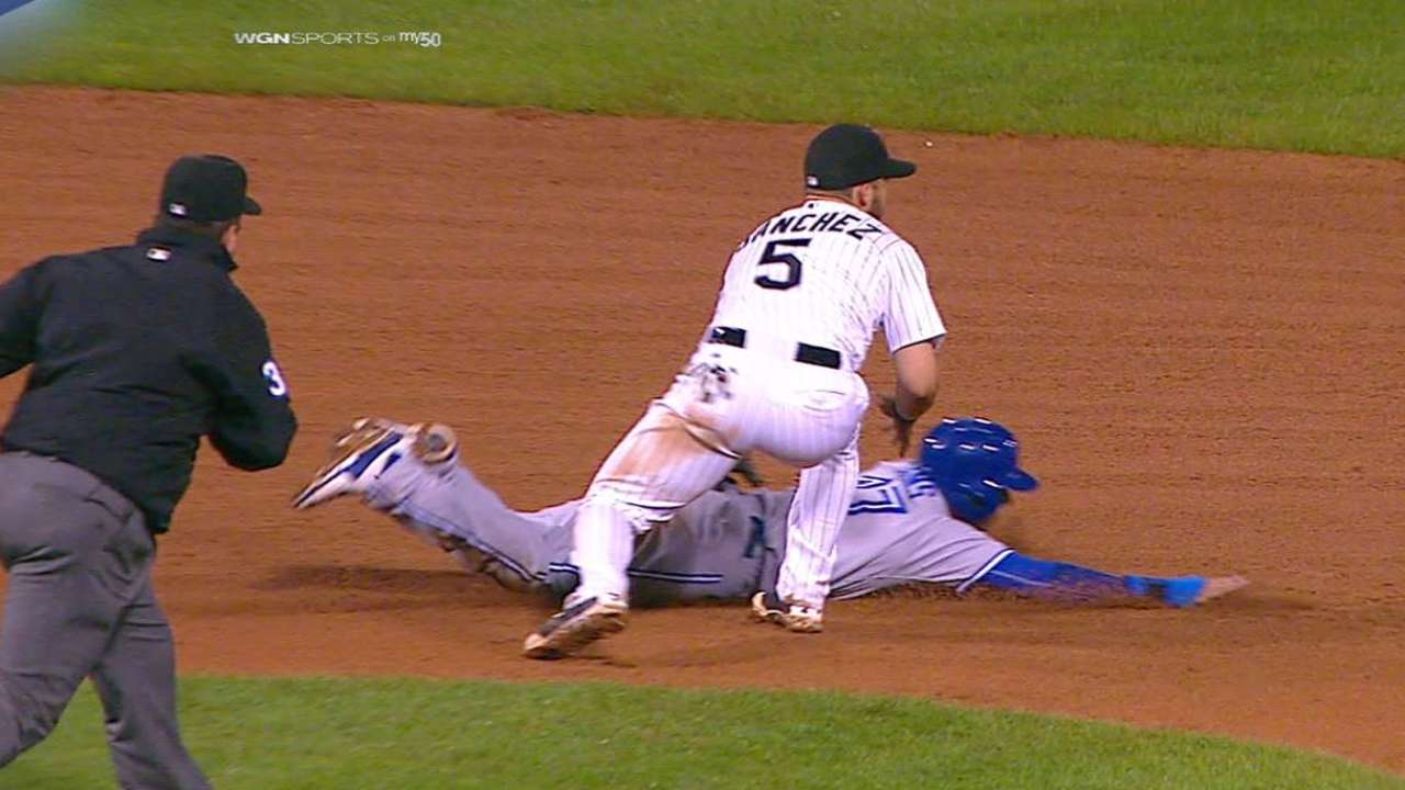 Goins out after umpire review