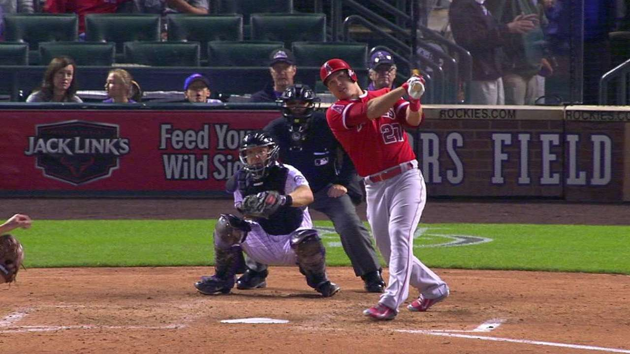Trout's second homer