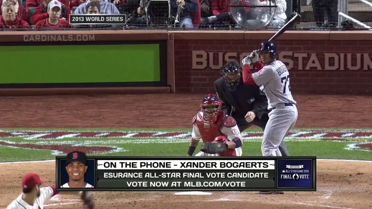 Bogaerts' Final Vote status a testament to hard work