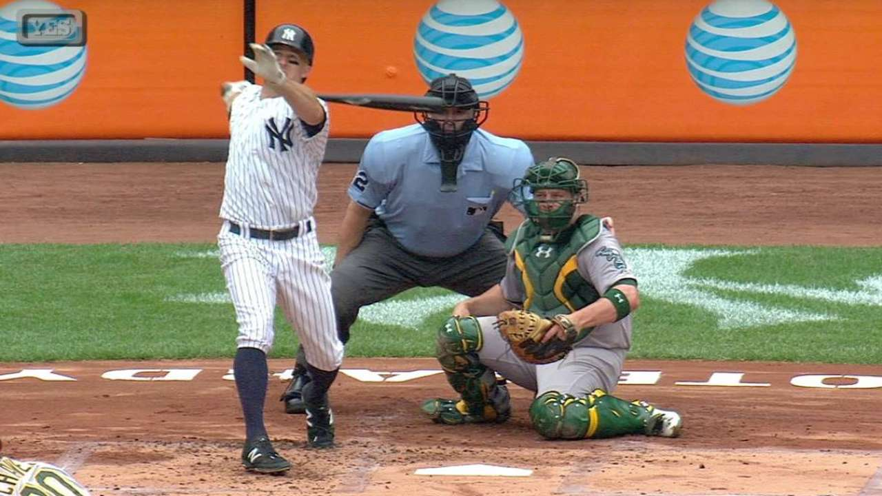 All-Star Gardner's 3 hits back Tanaka over A's