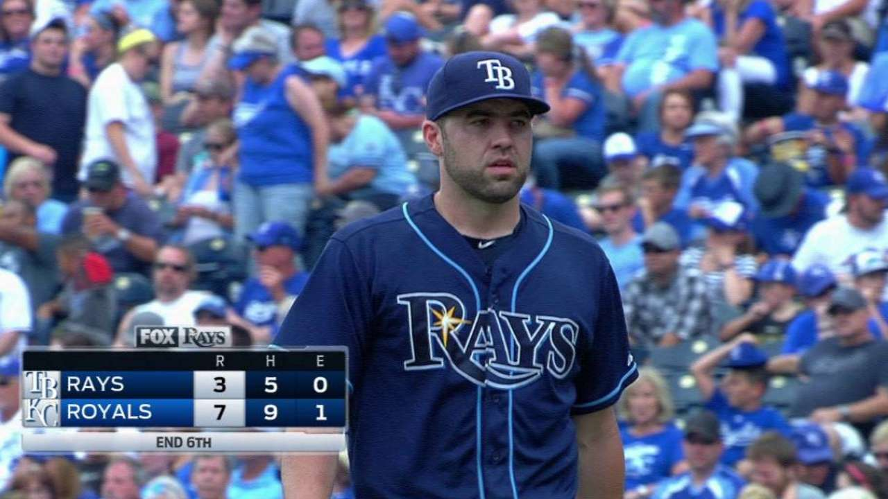 Rays struggle vs. red-hot KC, but optimistic