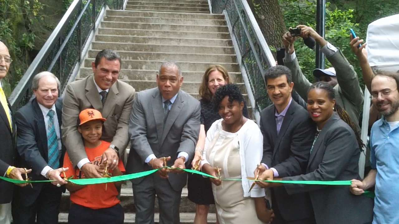 Renovated steps commemorate Polo Grounds