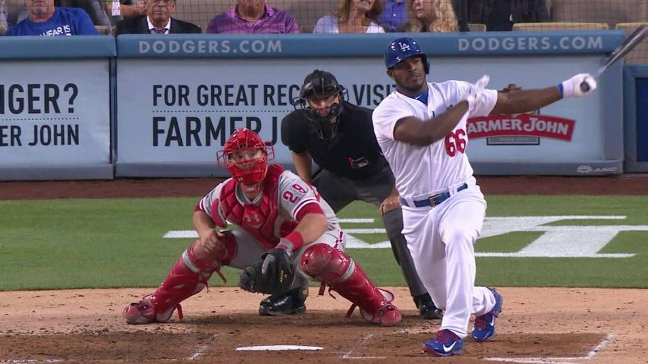 Puig's two-run double