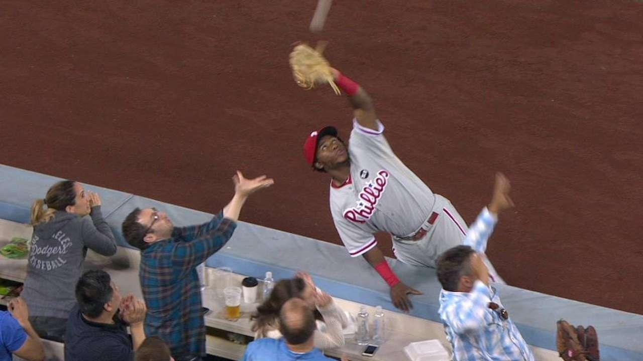 Franco's excellent catch