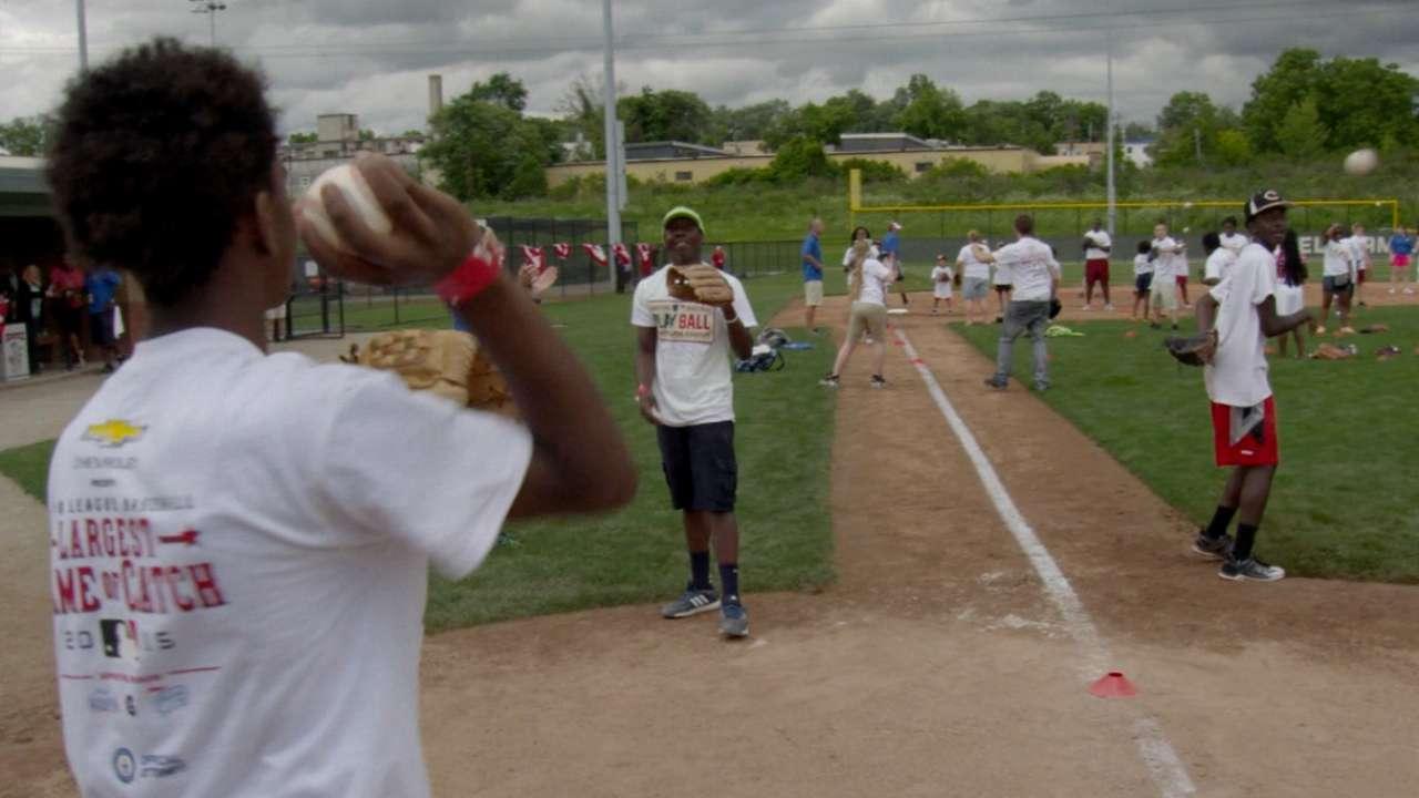 Largest Game of Catch played in Cincinnati