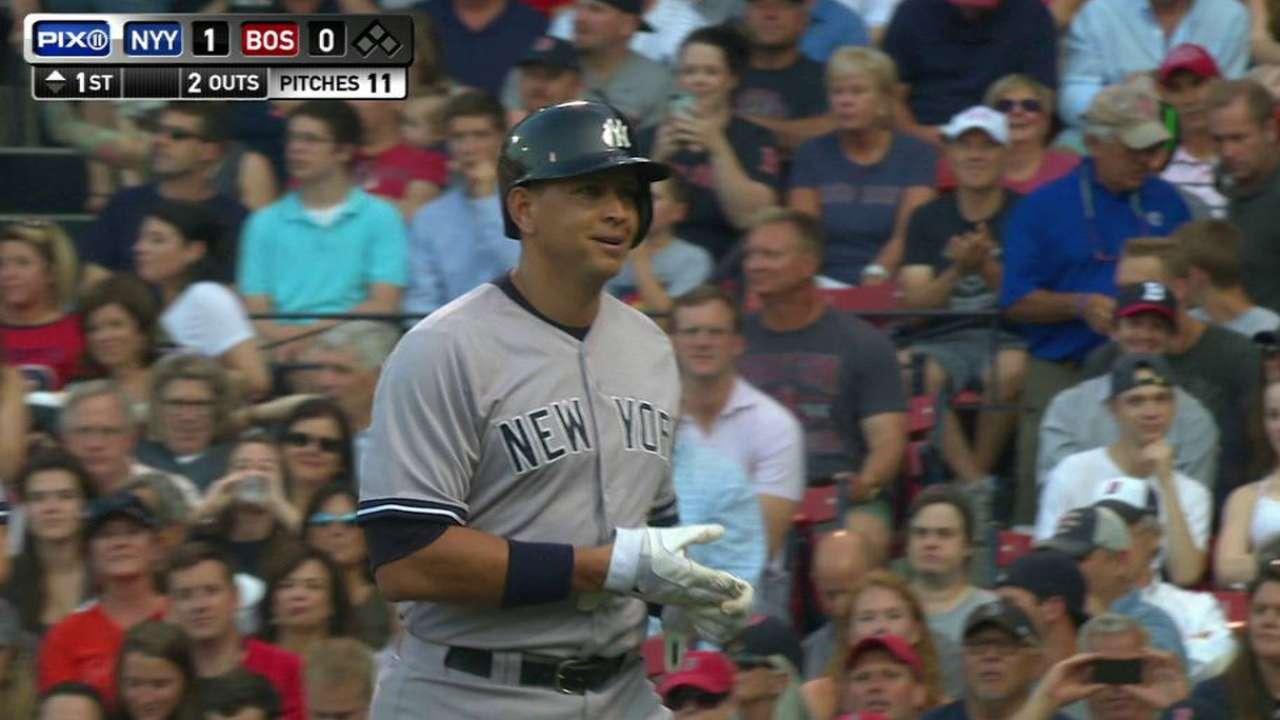 A-Rod, Pineda llevan a Yankees a victoria en Boston