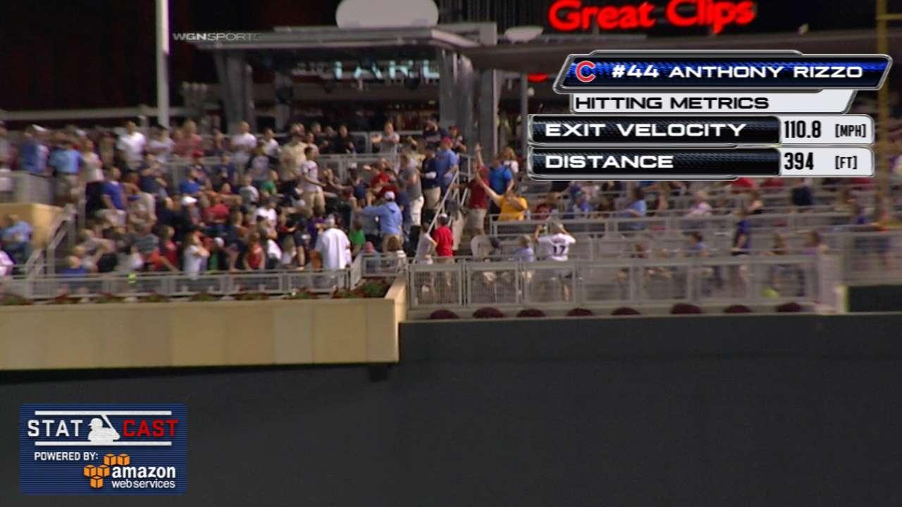 Statcast: Rizzo hits a solo shot