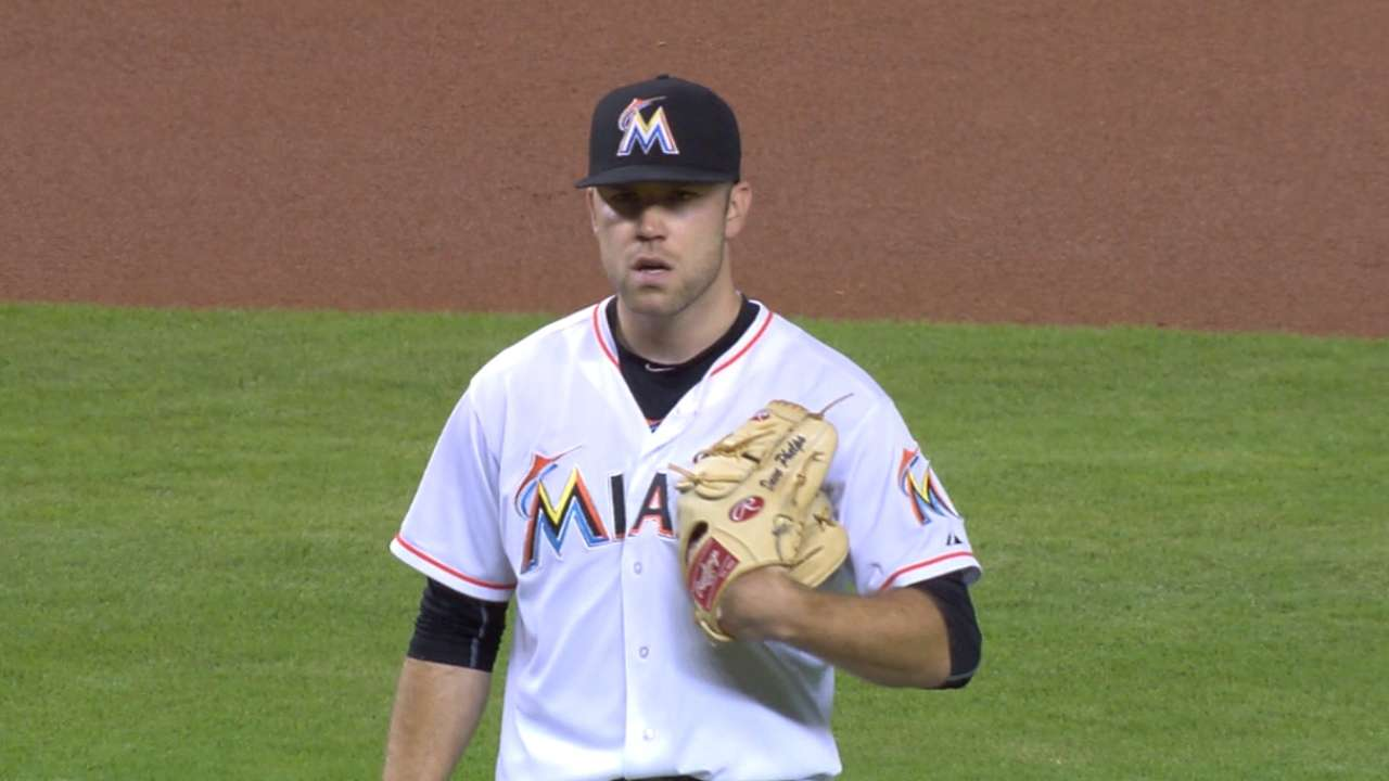 One pitch costs Phelps in duel at Marlins Park