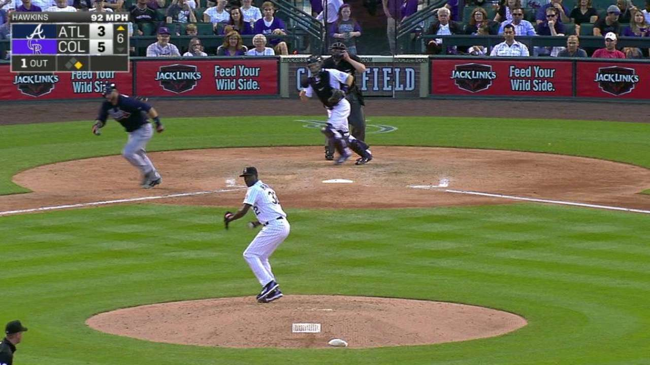 Hawkins induces a double play