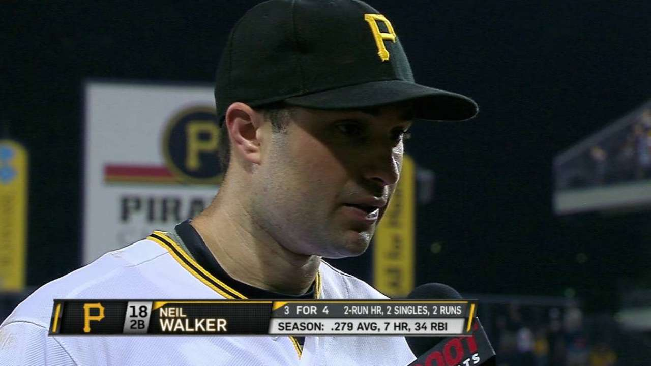 Walker on offense, Cole