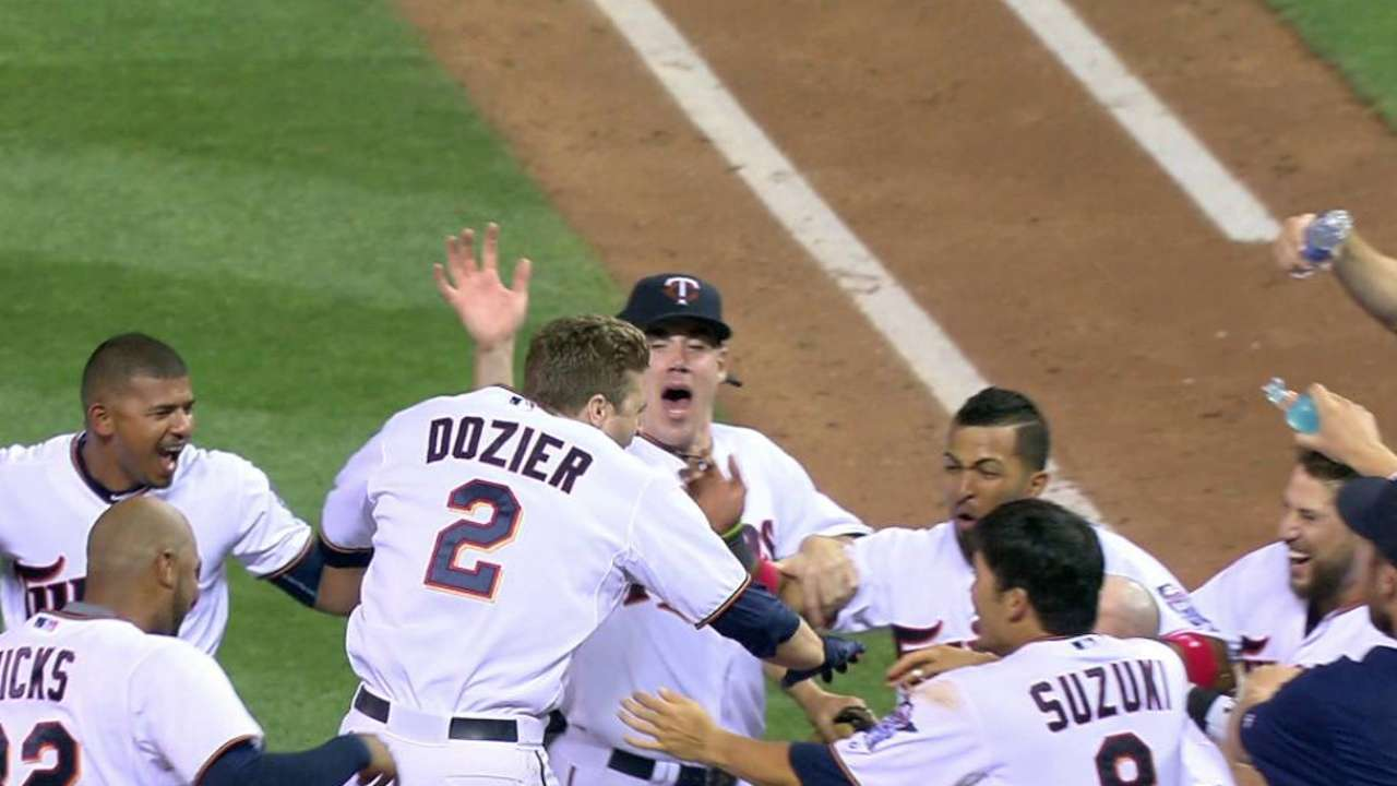 Dozier's walk-off blast