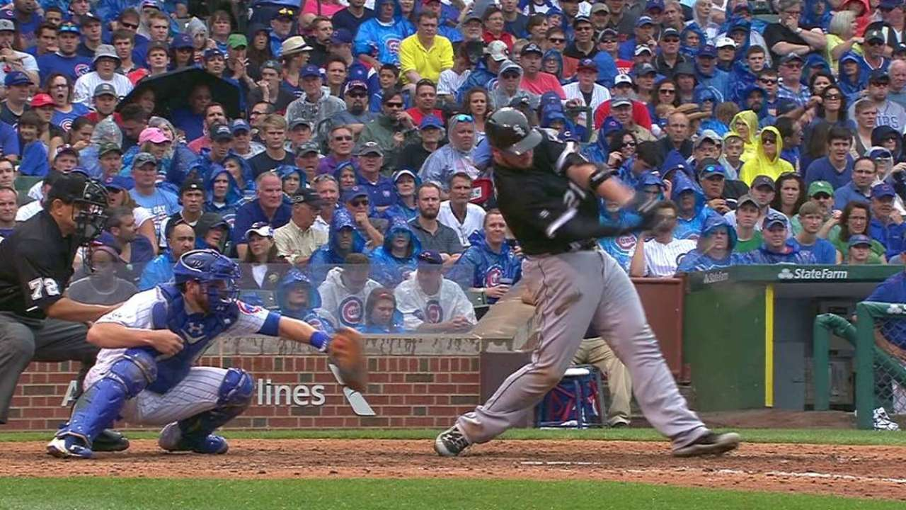 Flowers' two-run double