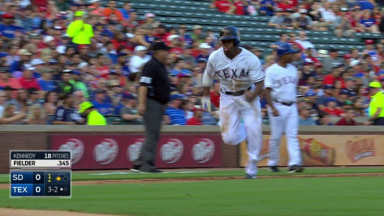 DeShields scores on popup