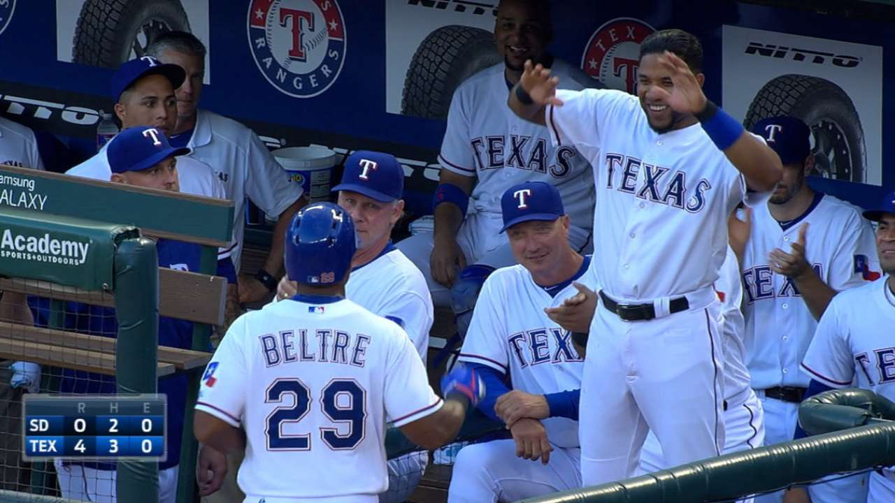 Rangers halt skid, extend Padres' slide