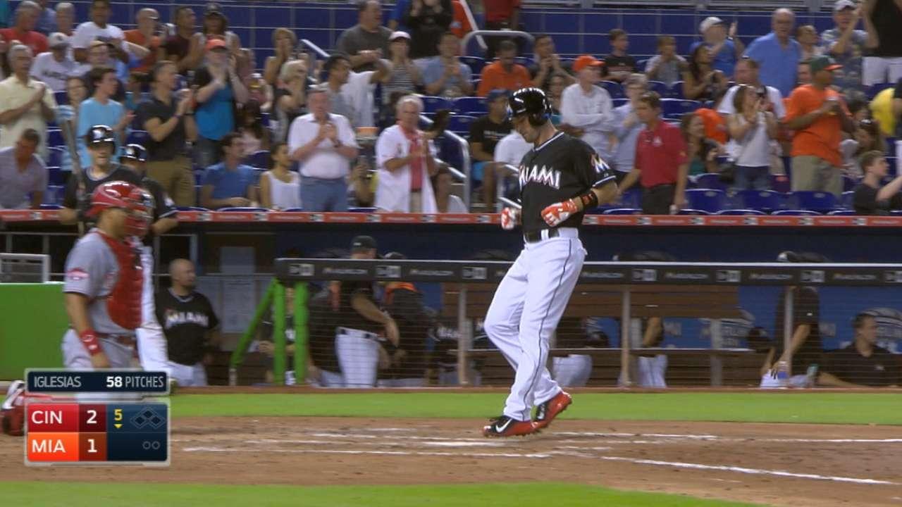 Marlins' five-run fifth inning