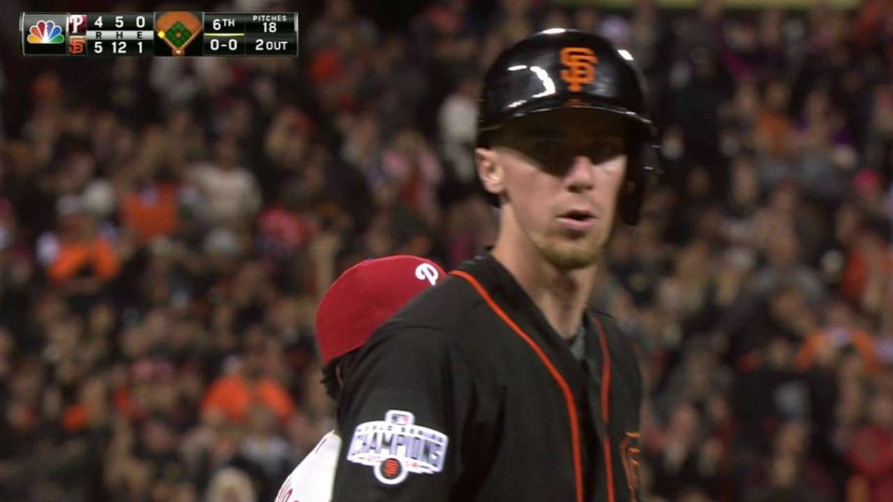 More relaxed Duffy delivers big hit for Giants