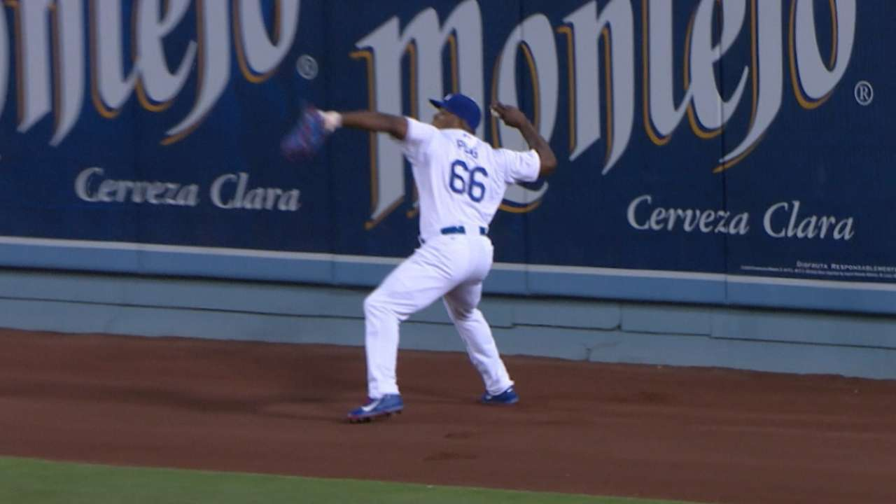 Puig fires cannon for highlight-reel assist