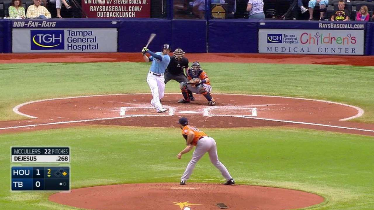 Moore gets first win as Rays sweep Astros