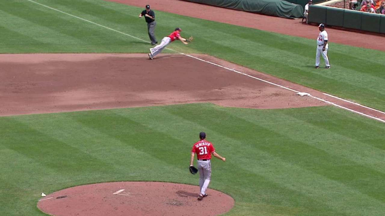 Moore's diving catch