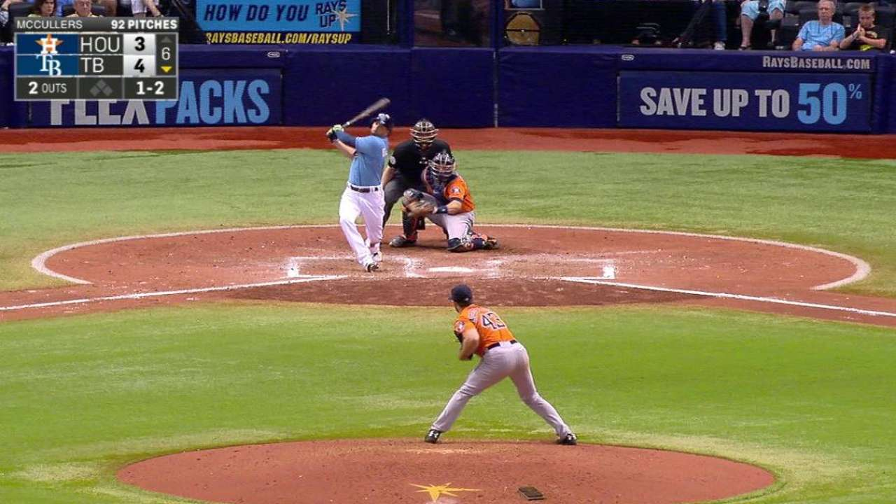 McCullers' 10th strikeout