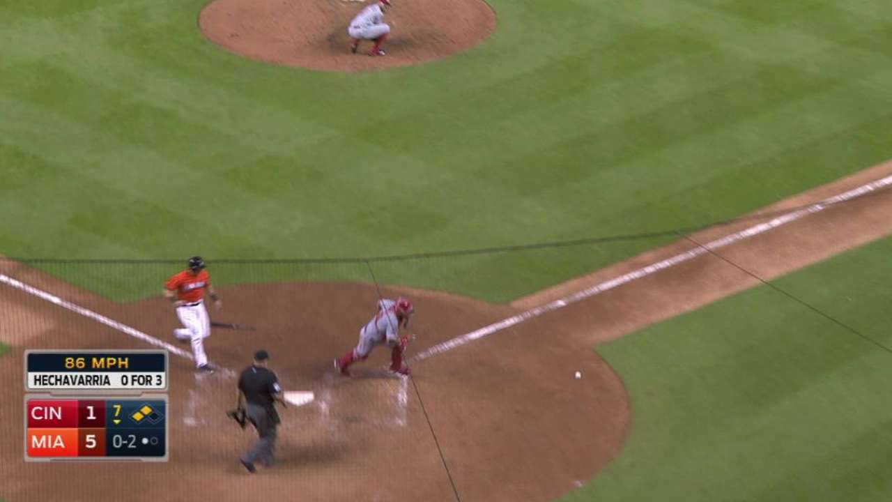 Marlins plate two on error