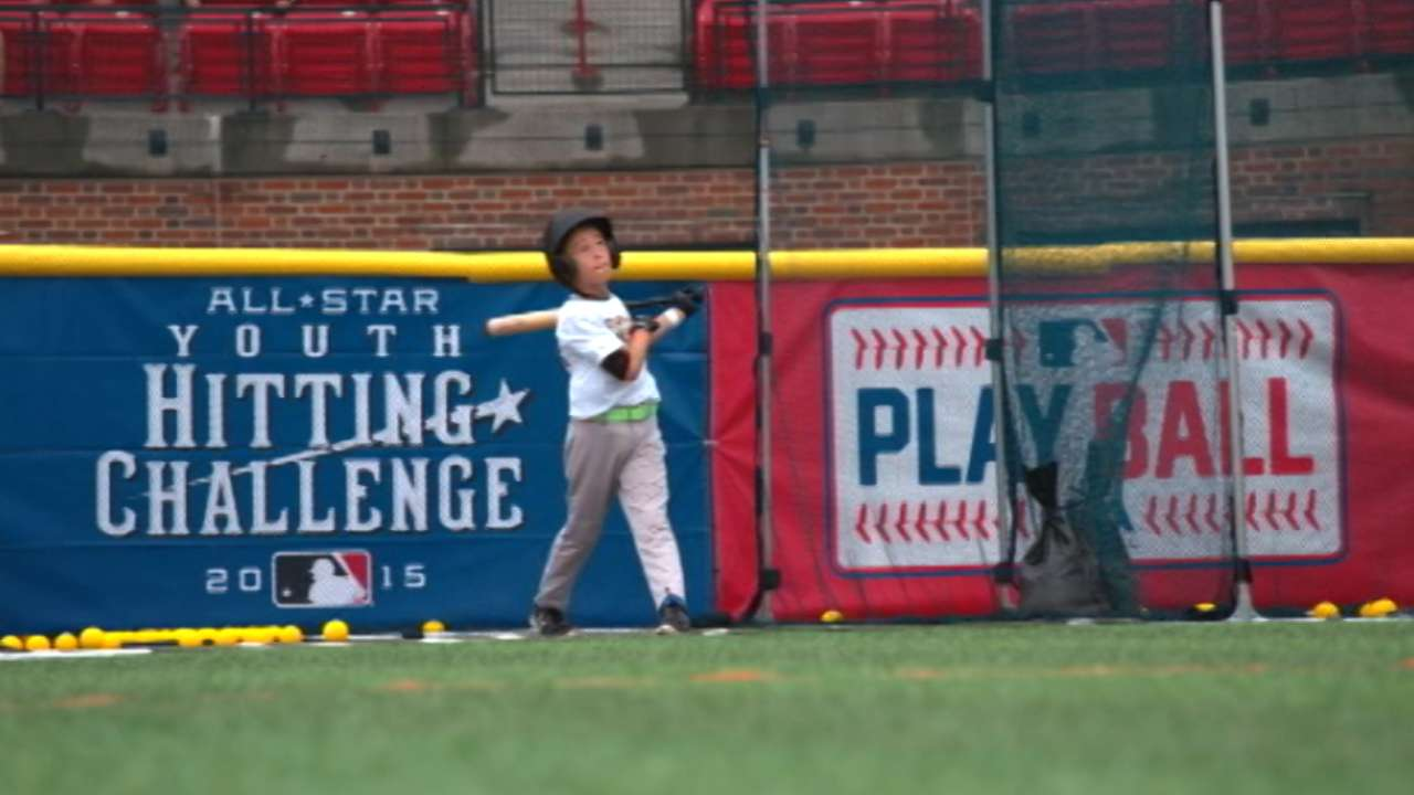 kids show skills in youth hitting challenge mlb com
