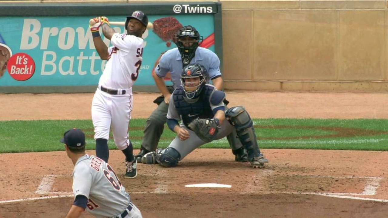 D. Santana's two-run triple