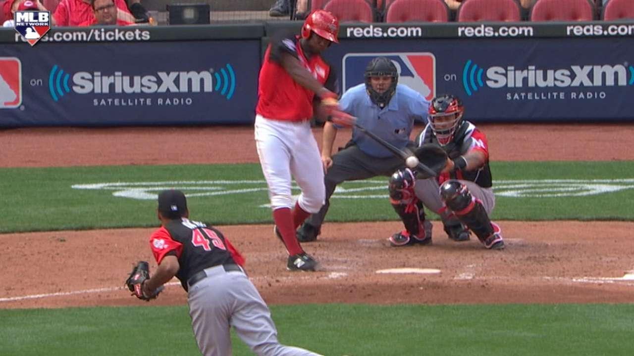 Bell's two-run homer