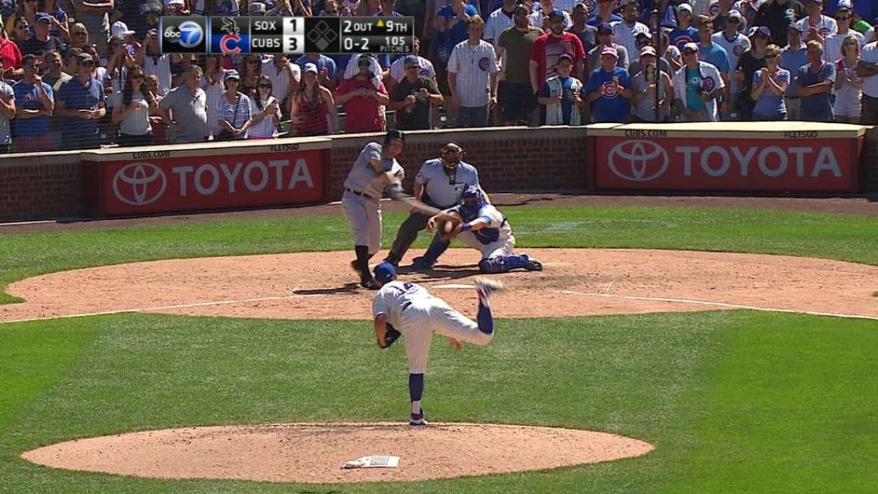 Arrieta fans Shuck to end game