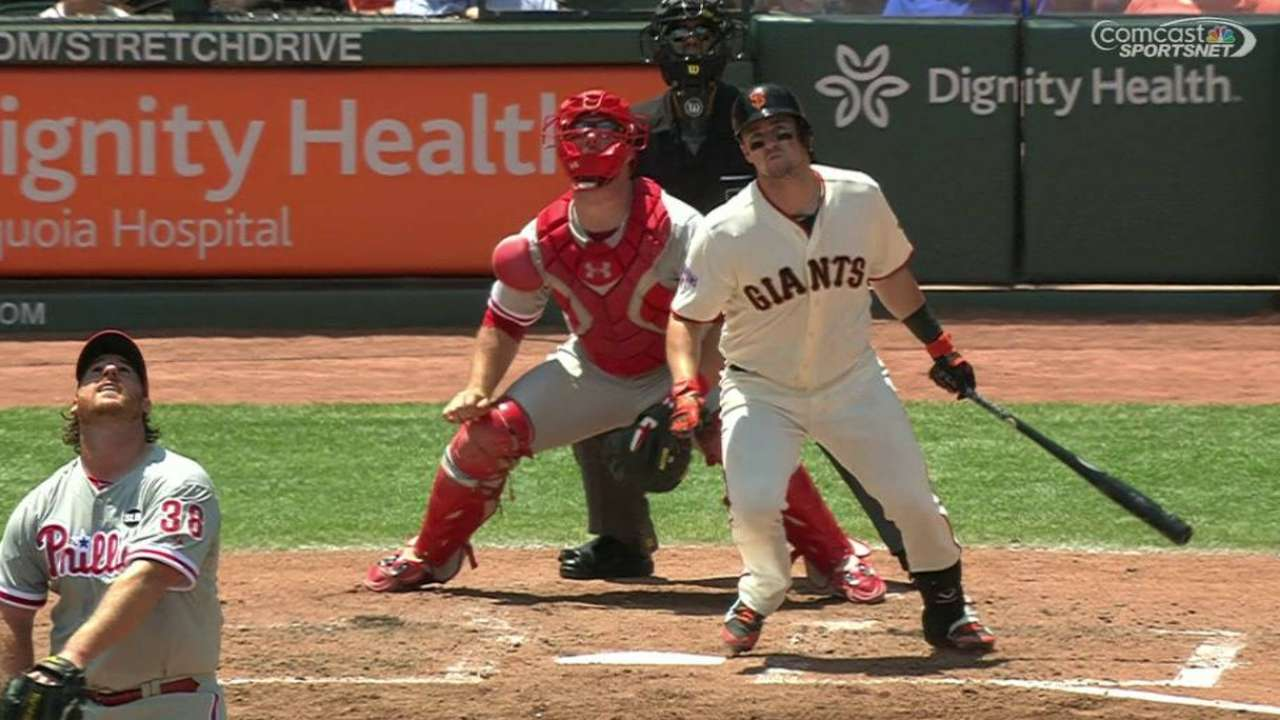 Susac leads Giants to sweep of Phillies