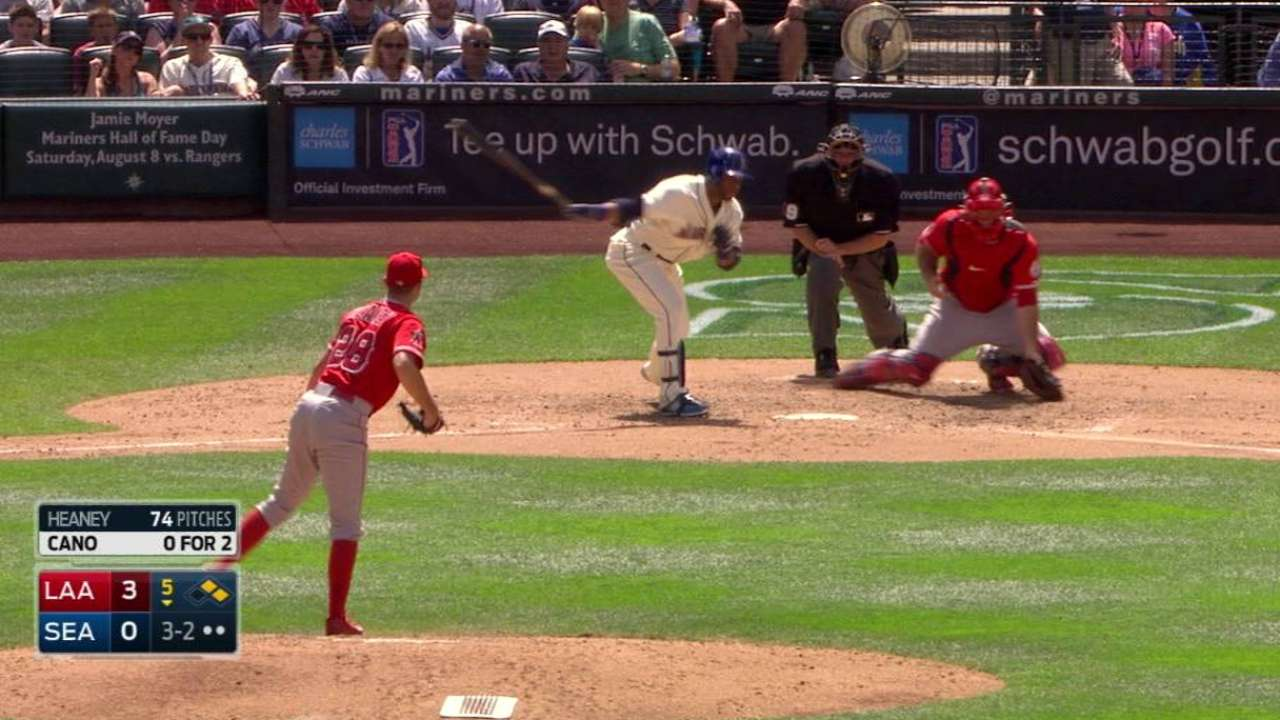 Heaney strikes out Cano